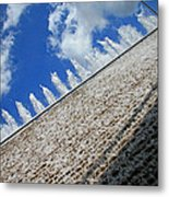A Fountain Through A Window Metal Print
