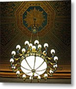 A Franklin Chandelier Metal Print