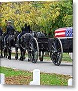 A Funeral In Arlington Metal Print