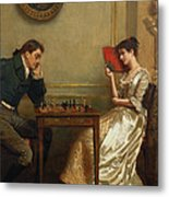 A Game Of Chess Metal Print