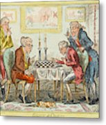 A Game Of Chess -  Two Wigged Gentlemen Metal Print