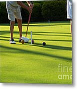 A Game Of Croquet Metal Print