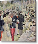 A Garden Party At The Elysee Metal Print