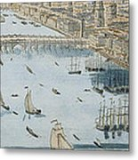 A General View Of The City Of London And The River Thames Metal Print