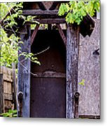 A Ghost In The Potting Shed Metal Print
