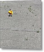 A Girl Carrying Inflatable Tubes Metal Print