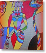 A Girl With Many Faces Metal Print