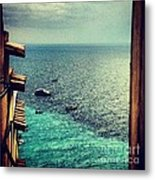 A Glimpse Of Blue Waters Metal Print by H Hoffman