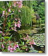 A Glimpse Of Monet's Pond At Giverny Metal Print