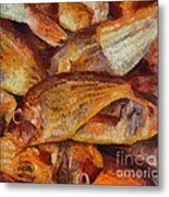 A Good Catch Of Fish Metal Print