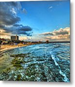 a good morning from Hilton's beach Metal Print