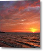 A Gorgeous Sunset In The Back Yard Metal Print