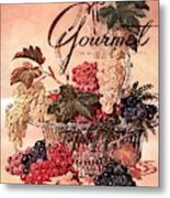 A Gourmet Cover Of Grapes Metal Print