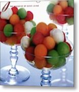 A Gourmet Cover Of Melon Balls Metal Print