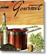 A Gourmet Cover Of Turtle Soup Ingredients Metal Print