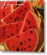 A Gourmet Cover Of Watermelon Sorbet Metal Print