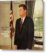 A Gq Cover Of President John F. Kennedy Metal Print