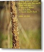 A Grain Of Wheat Metal Print