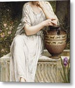 A Grecian Beauty Metal Print
