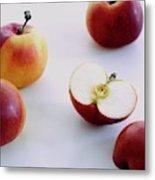A Group Of Apples Metal Print