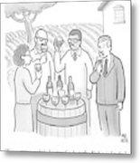 A Group Sample Wine At A Wine Tasting Vineyard Metal Print