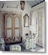 A Guest Room At Hickory Hill Metal Print