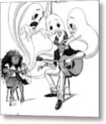 A Guitar Teacher Speaks To His Student Metal Print
