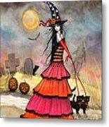A Halloween Stroll Metal Print by Molly Harrison