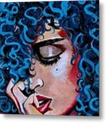 A Happy Woman is a Satisfied Woman Metal Print