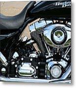 A Harley In Arlington Metal Print