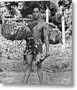 A Hawaiian With Coconuts Metal Print