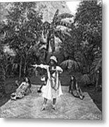 A Hawaiian Woman Dancing Metal Print