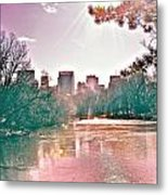 A Haze Over Central Park Metal Print
