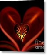 A Heart With Flower. Metal Print by Dipali S