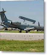 A Hellenic Air Force Emb-145 Awacs Metal Print