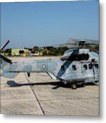 A Hellenic Air Force Super Puma Search Metal Print