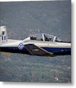 A Hellenic Air Force T-6 Trainer Flying Metal Print