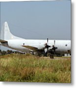 A Hellenic Navy P-3 Orion Aew Aircraft Metal Print