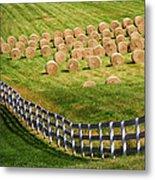A Herd Of Hay Bales Metal Print