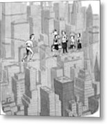 You See Where Sixth Avenue Meets Broadway Metal Print
