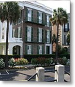 A Historic Home On The Battery - Charleston Metal Print