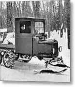 A Homemade Snowmobile Metal Print