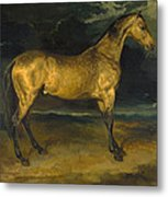 A Horse Frightened By Lightning Metal Print