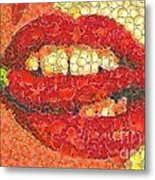 A Hot Lips Metal Print