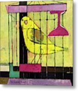 A House And Garden Cover Of A Bird In A Cage Metal Print