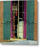 A House And Garden Cover Of A Christmas Metal Print