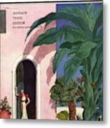 A House And Garden Cover Of A Woman In A Doorway Metal Print