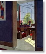 A House And Garden Cover Of An Interior Metal Print
