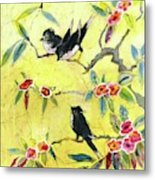 A House And Garden Cover Of Chickadees Metal Print