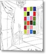 A House And Garden Cover Of Color Swatches Metal Print